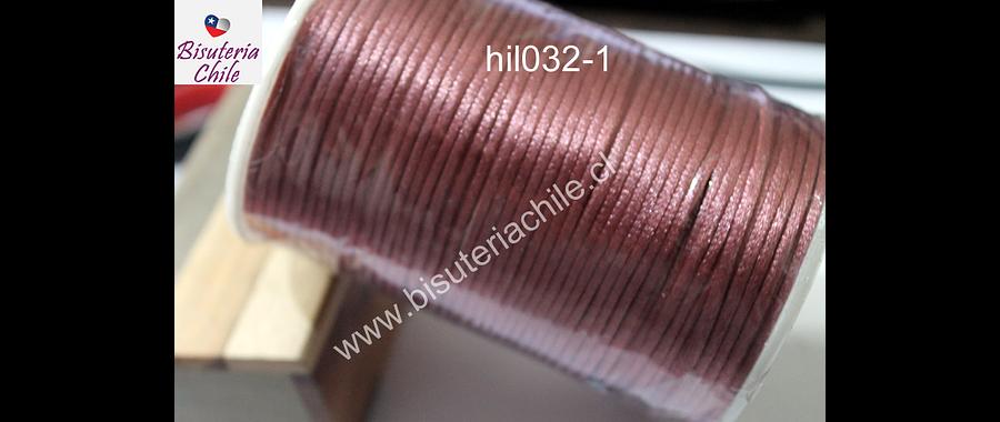 Cola de ratón palo de rosa, rollo de 100 mts, 2 mm de grosor.
