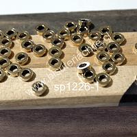 Separador dorado, 6 mm de diámetro, 2 mm de ancho, agujero de 3 mm, set de 36 productos aprox.