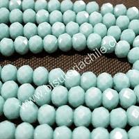 Cristal color jade, 6 mm por 5 mm, tira de 98 unidades