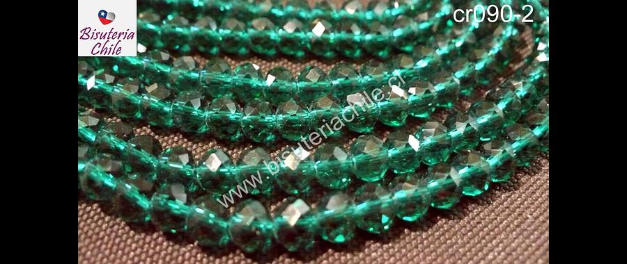 Cristal verde 6 mm por 5 mm, tira de 95 unidades