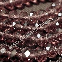 Cristal color ciruela 6 mm por 5 mm, tira de 98 unidades