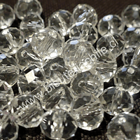 Cristal blanco transparente de 8mm por 6mm, tira de 70 unidades