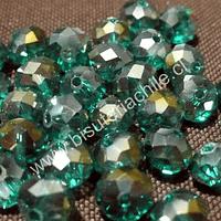 Cristal  verde de 8mm por 6mm, tira de 70 unidades