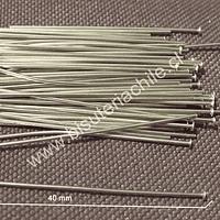 Vastago acero, 40 mm de largo, set de 7 grs aprox