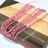 Opalo rosa de 3 mm, con facetado especial, extra brillo, tira de 125 piedras aprox