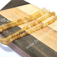 Opalo amarillo rondell de 4 x 3 mm, tira de 60 piedras
