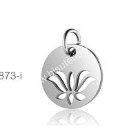 Dije Flor de la VIda, acero, 12 mm de diámetro, por unidad