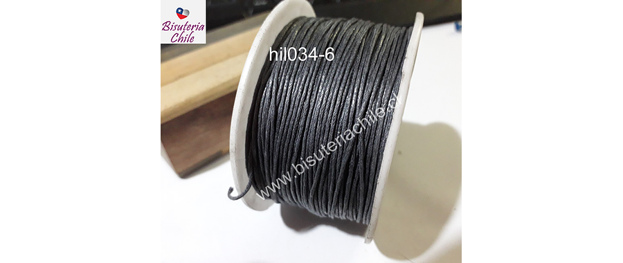 Hilos, Hilo de algodón gris, 1 mm, carrete de 40 yardas