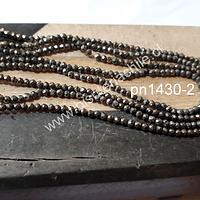 Pirita facetada de 2 mm, tira de 200 piedras aprox