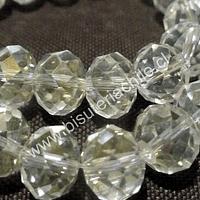 Cristal color blanco transparente, de 12 mm por 10 mm, tira de 20 piedras