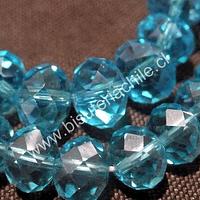 Cristal color calipso, de 12 mm por 10 mm, tira de 20 piedras