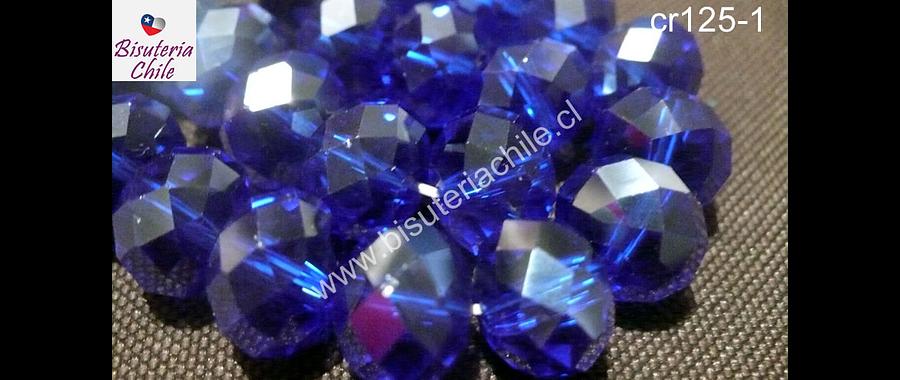 Cristal color azul, de 12 mm por 10 mm, tira de 20 piedras
