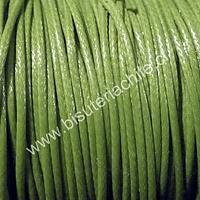 Simil cuero color verde claro, 1 mm de espesor, por metro