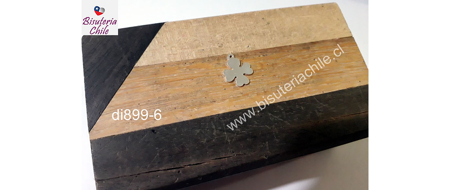 Dije de plata en forma de trébol, 10 mm de diámetro por unidad