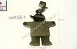 Colgante acero en forma de niño 26 mm de alto por 19 mm de ancho, cada uno