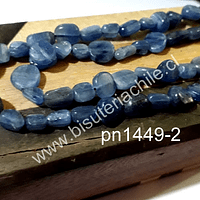 cuarzo azul irregular redondeada, tira de 60 piedras, de 7 x 5 mm aprox.
