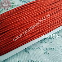 Cordón Soutache color rojo 3 mm, rollo de 30 mts.