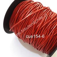 Cuero rojo, 1 mm de espesor, por metro