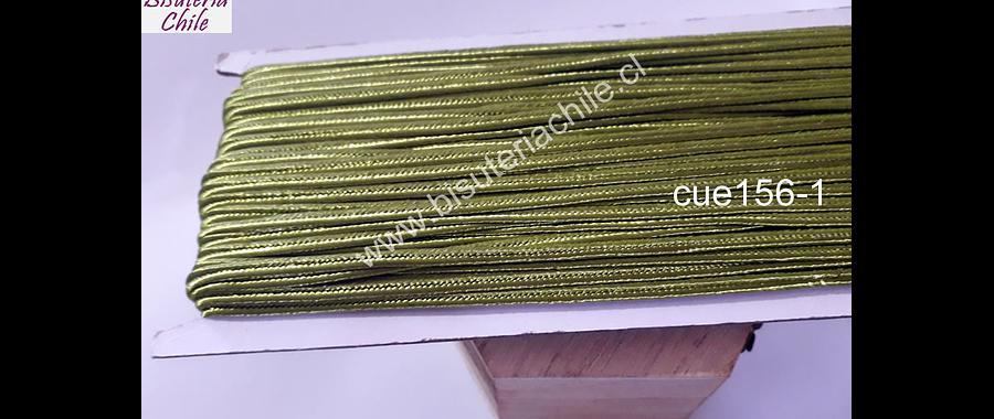 Cordón Soutache color verde musgo, 3 mm, rollo de 30 mts.