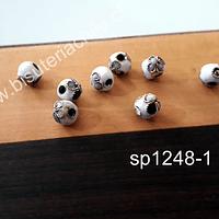Perla española blanca de 6 mm, set de 8 unidades