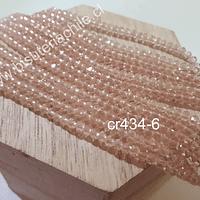 Cristal facetado rosado de 3 mm x 2 mm, tira de 148 cristales aprox.