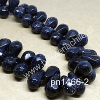 Piedra estrella en forma de gota, 12 mm de largo x 7 mm de ancho, set de 10 unidades