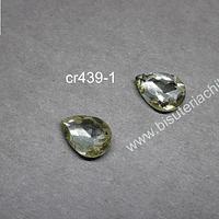 cristal amarillo para soutache, 10 x 14 mm, set de 2 unidades