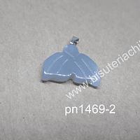 Colgante cola de sirena, cuarzo gris, 21 mm de ancho x 15 mm de largo, por unidad