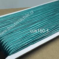 Cordón Soutache color calipso, 3 mm, rollo de 30 mts