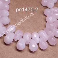 Cuarzo rosado en forma de gota, 12 mm de largo x 7 mm de ancho, set de 10 unidades