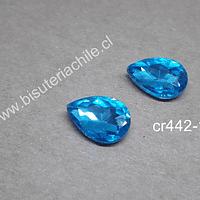 cristal celeste para soutache, 10 x 14 mm, set de 2 unidades