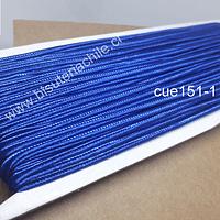 Cordón Soutache color azul, 3 mm, rollo de 30 mts
