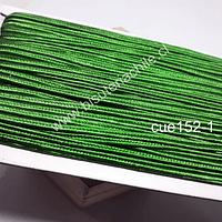 Cordón Soutache color verde, 3 mm, rollo de 30 mts