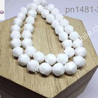 Cuarzo blanco corte hexágonal, 8 mm, tira 20 unidades