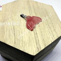 Colgante cola de sirena, en cuarzo cherry 21 mm de ancho x 15 mm de largo, por unidad