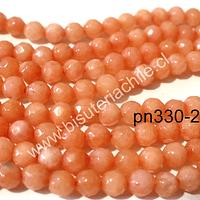 Agata 4 mm, en tonos naranjos , tira de 90 piedras aprox