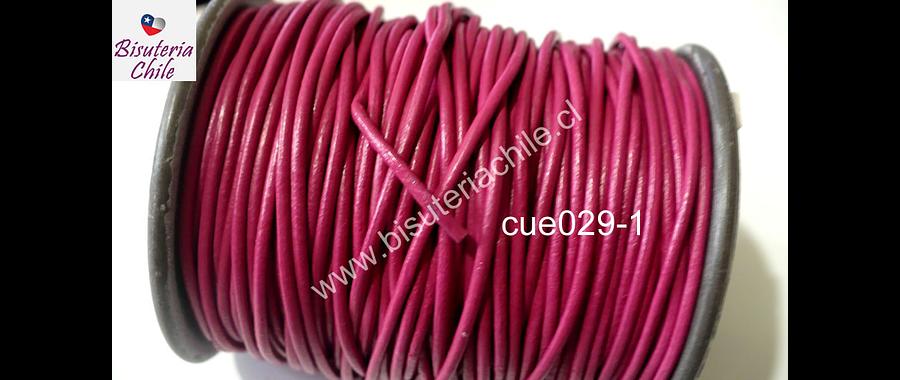Cuero rosado oscuro de 1,5 mm por metro