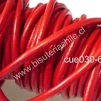 Cuero rojo de 3 mm por metro