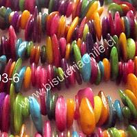 Nacar multicolor tira de 74 cm aprox