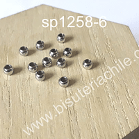 separador de acero de 4 mm de diámetro x 3 mm de ancho, agujero de 2,5 mm, set de 10 unidades