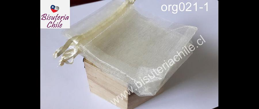Bolsa de organza crema, 7 x 9 , set de 10 unidades