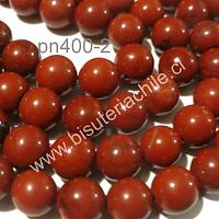 Jaspe rojo de 6 mm, tira de 68 piedras aprox
