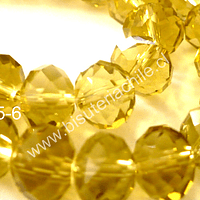 Cristal amarillo de 10 mm, tira de 20 unidades
