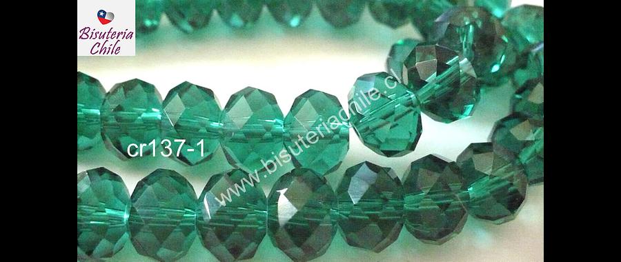 Cristal verde de 12 mm, tira de 20 unidades