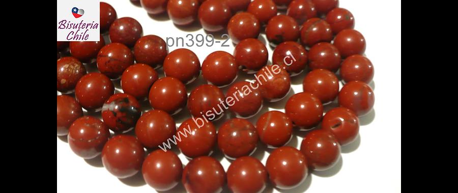 Jaspe rojo de 10 mm, tira de 38 piedras aprox