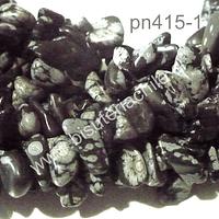 Obsidiana picada, piedra mediana, tira de 80 cm