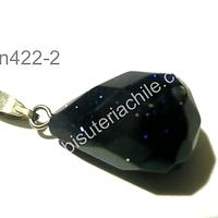 Dije piedra estrella facetado, 18 mm de largo por 7 mm de anchom por unidad