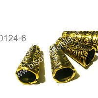 Casquete  dorado, 17 mm de largo por 8 mm de ancho, set de 4  unidades