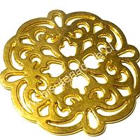 Colgante dorado, 42 mm diámetro, por unidad
