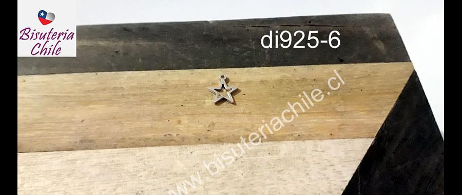 Dije de plata en forma de estrella, 7 mm de diámetro, por unidad